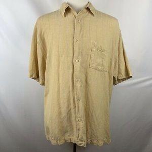 Havanera Co Linen Rayon Blend Camp Shirt